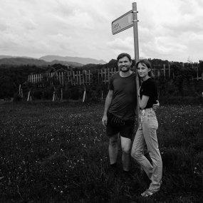 Michael  & Maria Gross im Weingarten